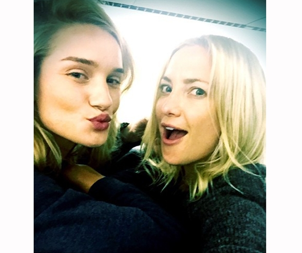 Rosie Huntington Whiteley and Kate Hudson's no makeup selfie