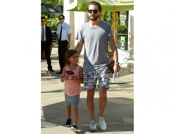 Scott Disick and Mason Disick