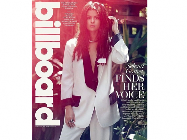 Selena Gomez on the cover of Billboard