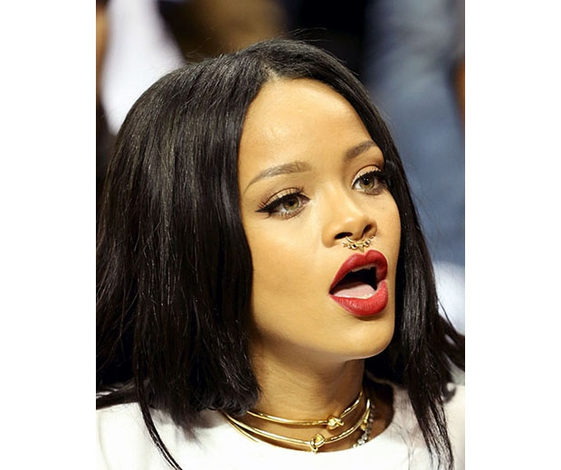Rihanna's a fan of the septum piercing