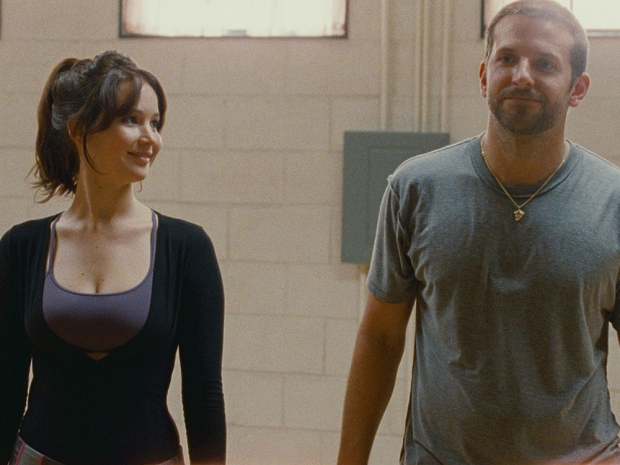 Jennifer Lawrence and Bradley Cooper in a still from Silver Linings Playbook.