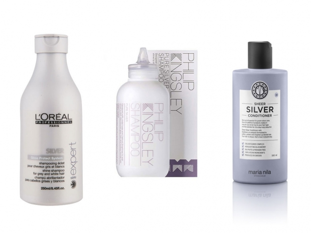 silver hair products