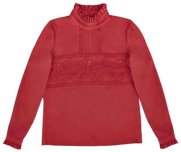 LOOK's Lucy Loves TU at Sainsbury's beautiful red Victoriana blouse