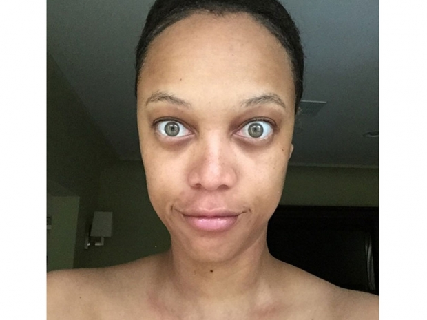 Tyra Banks with no makeup