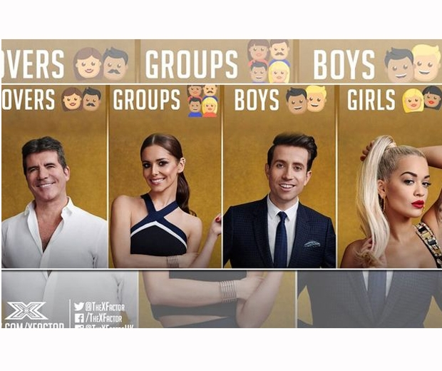 x factor judges categories