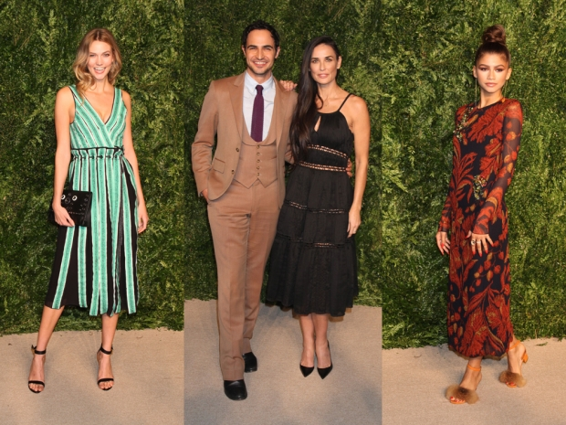 Karlie Kloss, Zac Posen and Demi Moore and Zendaya at the CFDA event