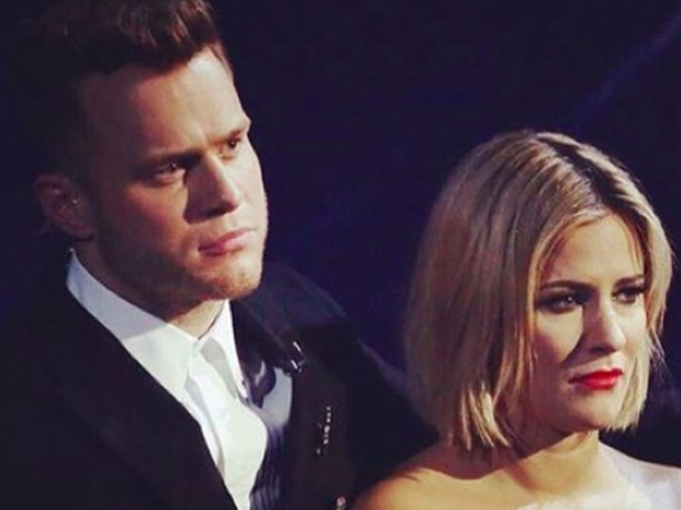 Caroline Flack and Olly Murs on X Factor