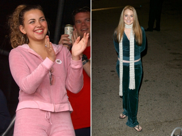 Charlotte Church and Lindsay Lohan in their Juicy Couture tracksuits.
