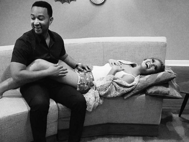 Chrissy Teigen announced pregnancy.
