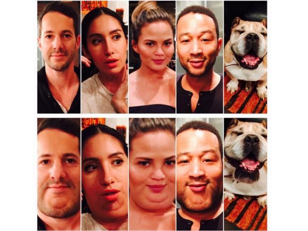 Chrissy Teigen's funny Instagram collage.