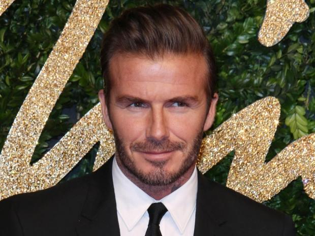 David Beckham at the British Fashion Awards