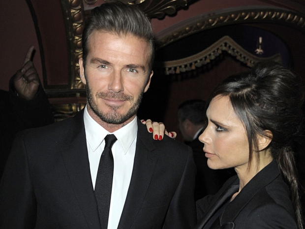 Victoria Beckham and David Beckham at the British Fashion Awards