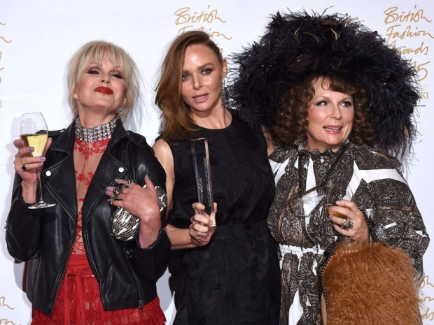 Jennifer Saunders, Stella McCartney  Joanna Lumley at the British Fashion Awards