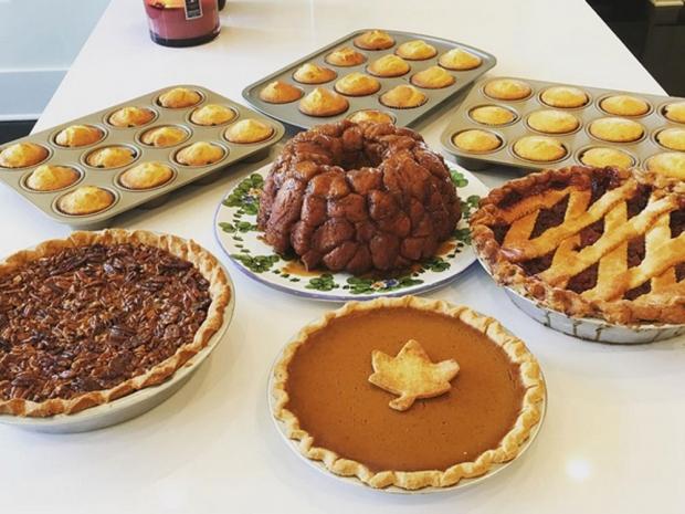 Khloe Kardashian's Thanksgiving food