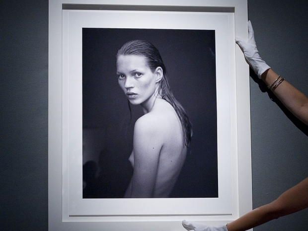 Kate Moss in Calvin Klein's Obsession advert.