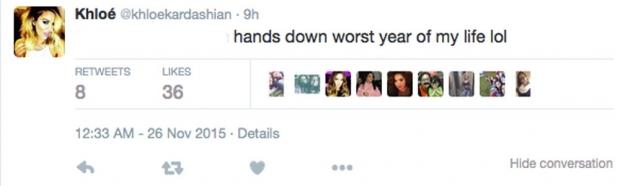 Khloe Kardashian's Tweet