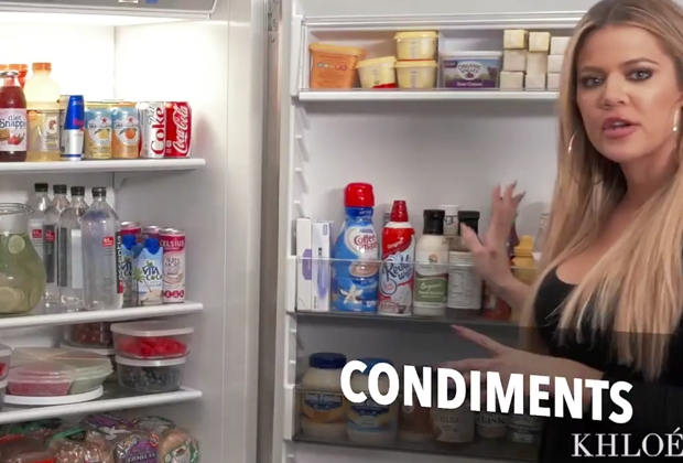 khloe kardashian fridge