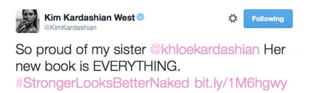 Kim Kardashian's Tweet