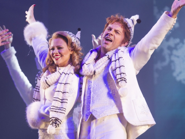 Kimberley Walsh and Ben Forster