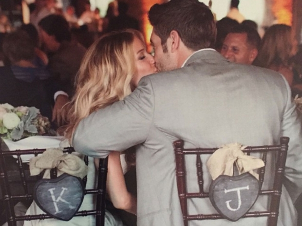 Kristin Cavallari and Jay Cutler on their wedding day.