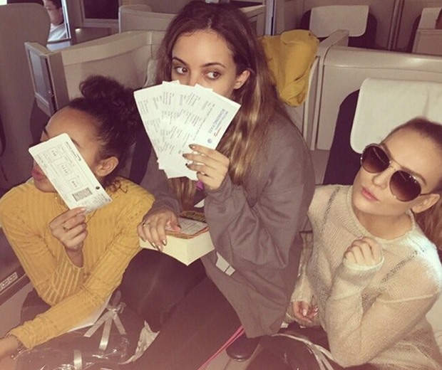 little mix on a plane to japan