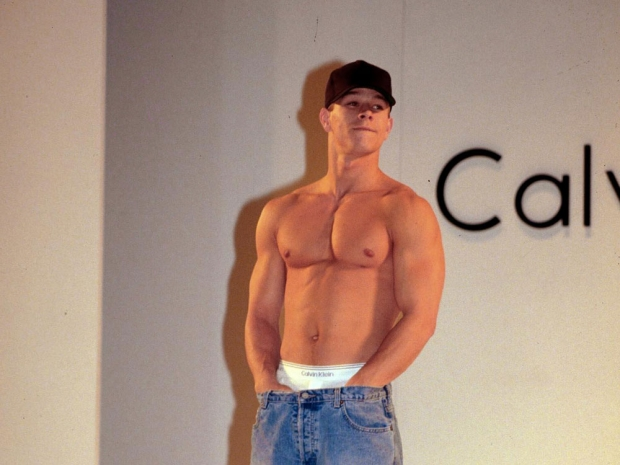 Marky Mark on the catwalk.