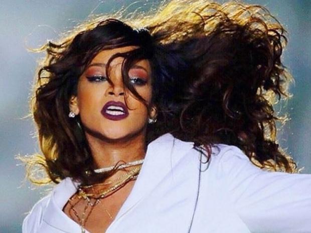 Rihanna on stage.