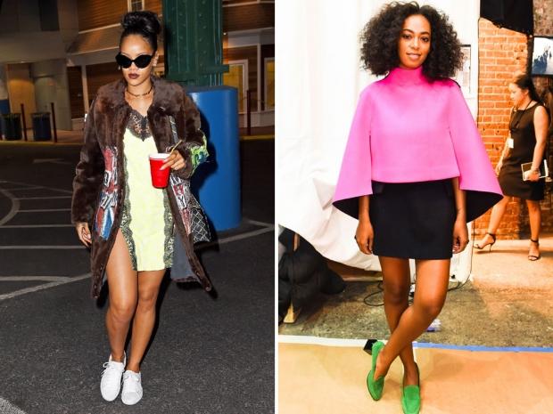 Rihanna and Solange
