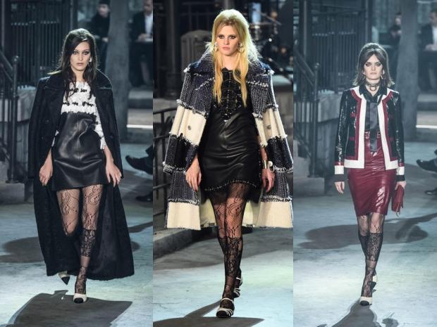 Bella Hadid, Lara Stone and Sam Rollinson on the Chanel catwalk