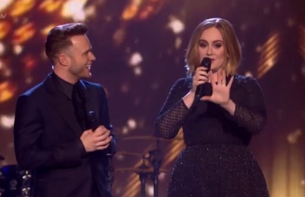adele x factor performance talking to olly murs