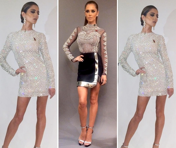 cheryl X factor sequin mini dress
