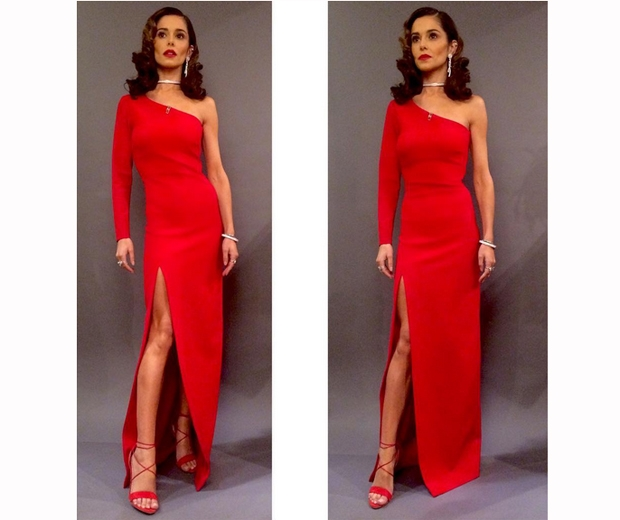 cheryl x factor red dress