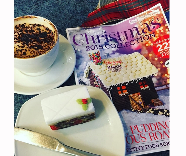 michelle keegan christmas coffee and magazines