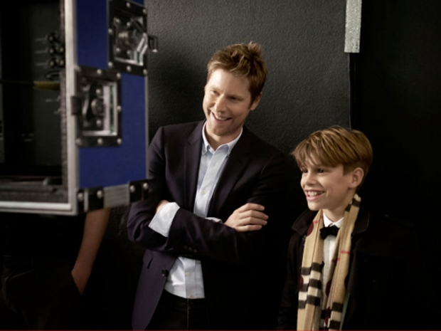 Christopher Bailey behind the scenes with Romeo on set.