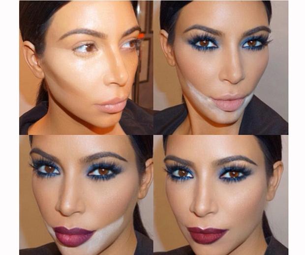 kim kardashian contouring