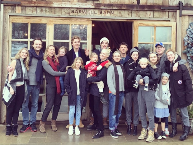 The Delevingne family Christmas.