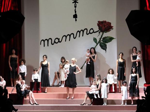 The Dolce & Gabbana catwalk.