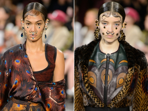 Givenchy's face jewels.
