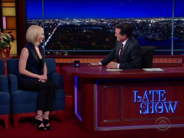 Jennifer Lawrence appeared on the programme on Monday night