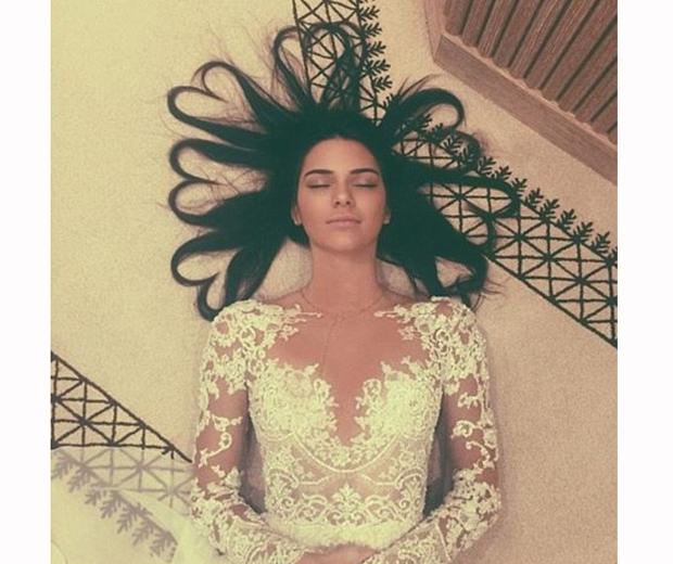 This shot of Kendall jenner is the most-liked Instagram photo of 2015...