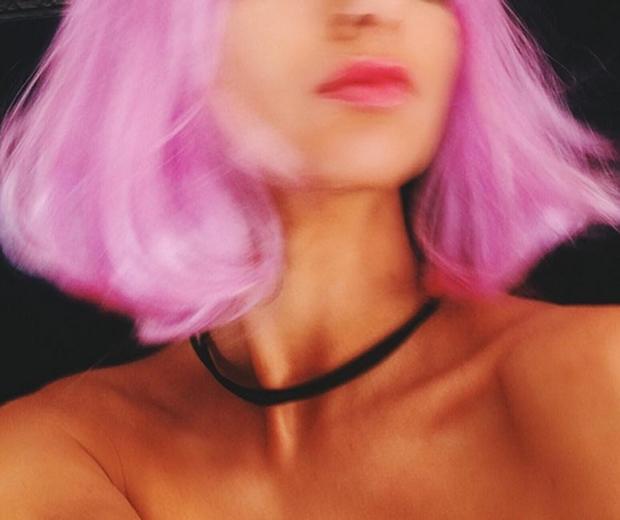 kendall jenner instagram pink hair