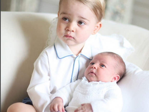 Prince George and Princess Charlotte.