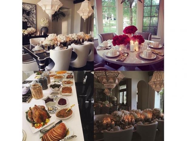 Khloe Kardashian's Thanksgiving table