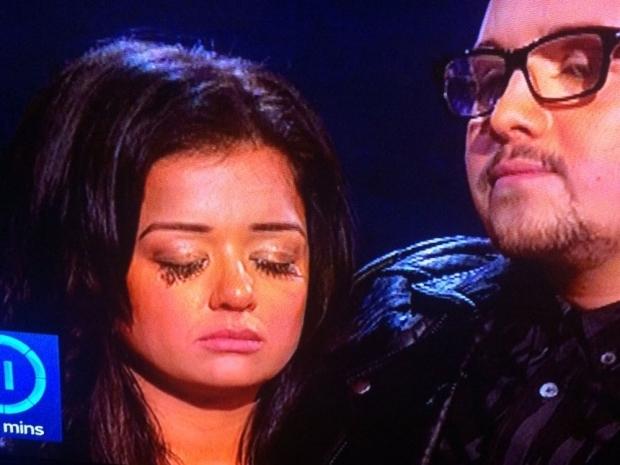lauren murray crying eyelashes