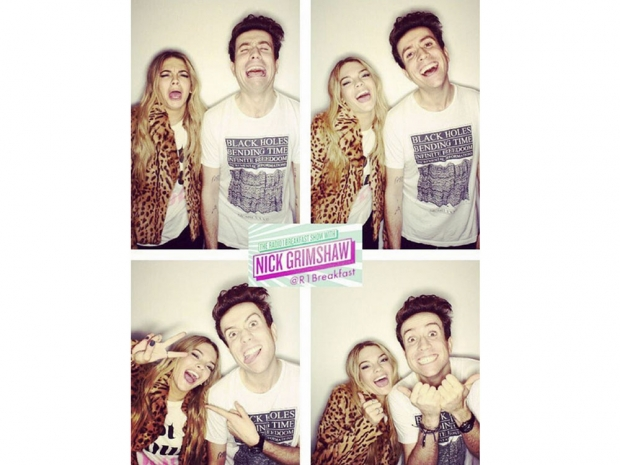 Louisa Johnson and Nick Grimshaw