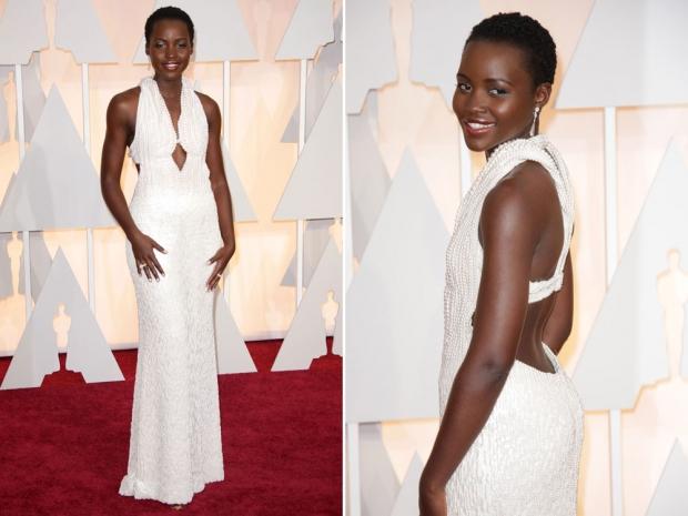 Lupita Nyong'o at the 2015 Academy Awards.
