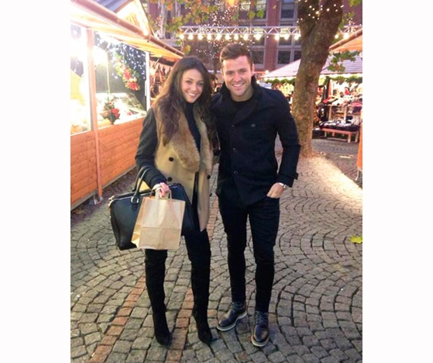 michelle keegan and mark wright at a festive market