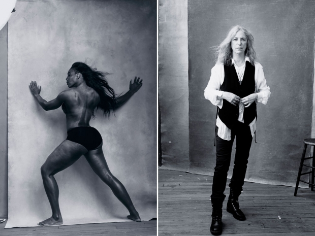 Serena Williams and Patti Smith in the Pirelli calendar.