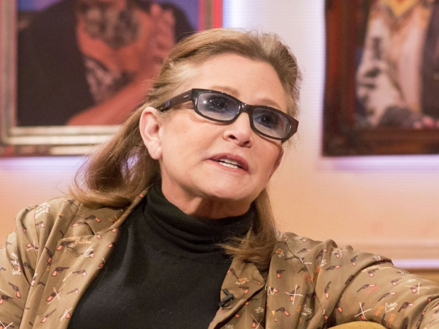 Carrie Fisher on a talk show.