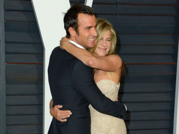 Justin Theroux and Jennifer Aniston on the red carpet.